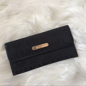AUTHENTIC sleek black Michael Kors Wallet